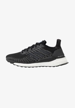 SOLAR BOOST 19 - Neutral running shoes - core black/grey five/glow blue