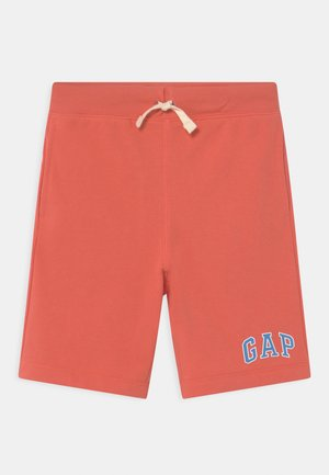 BOY LOGO  - Tracksuit bottoms - deep papaya