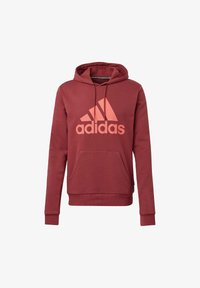 adidas Performance - BADGE OF SPORT FRENCH TERRY HOODIE - Jersey con capucha - red - 7