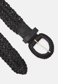 Esprit - BRAIDED - Pletený pásek - black - 1