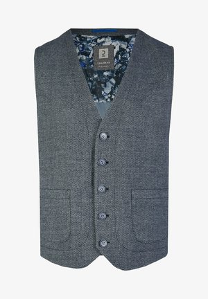 Suit waistcoat - blue denim