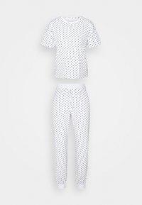 ONLASTA NIGHTWEAR SET - Pyjamas - white/black