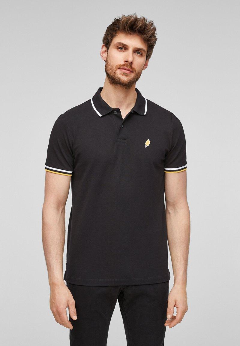 s.Oliver - Polo shirt - black