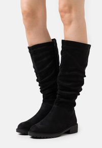 New Look Wide Fit - WIDE FIT CLOUD SLOUCH KNEE HIGH  - Laarzen - black - 0