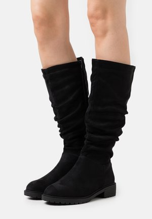 WIDE FIT CLOUD SLOUCH KNEE HIGH  - Laarzen - black