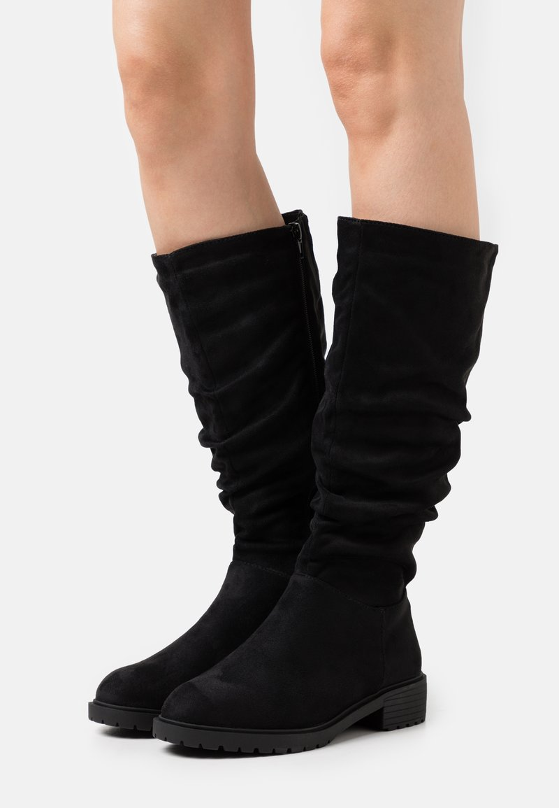New Look Wide Fit - WIDE FIT CLOUD SLOUCH KNEE HIGH  - Laarzen - black