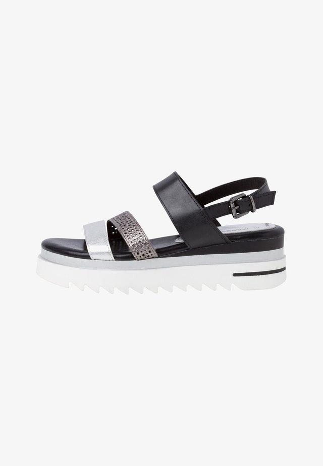 Sandales à plateforme - black ant.comb