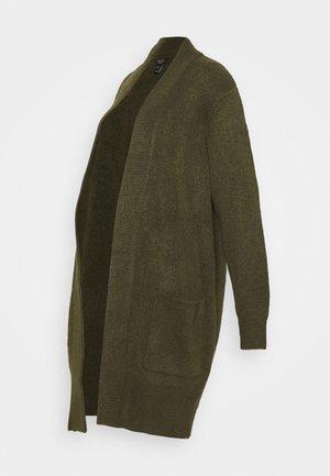 CARDIGAN - Cardigan - dark khaki