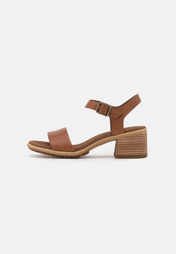 LAGUNA SHORE MID HEEL - Sandals - rust