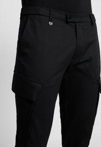 Antony Morato - PANT ON BOTTOM LEGS - Cargo trousers - black - 4