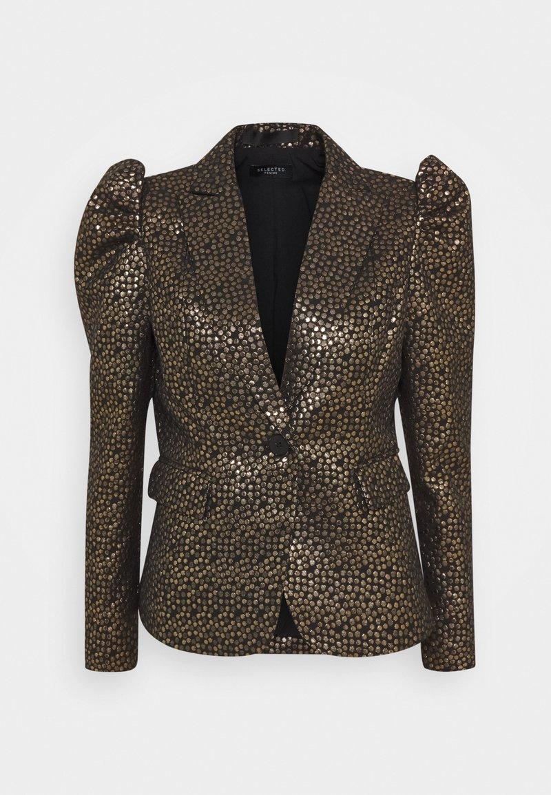 Selected Femme - SLFGEE - Blazer - black/gold