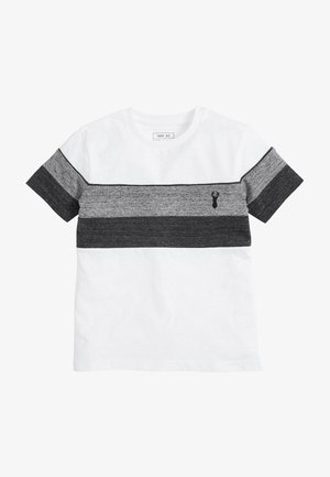 MONOCHROME TEXTURED COLOURBLOCK - Triko s potiskem - white