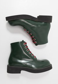 Marni - Lace-up ankle boots - deep sage - 1