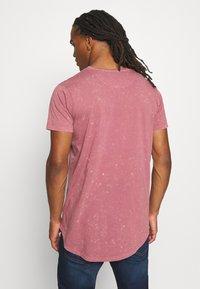 Brave Soul - GENKO - Print T-shirt - pink acid wash - 2