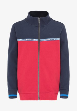 Sweater met rits - fire red