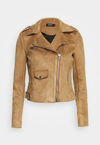 BIKER - Faux leather jacket - toasted coconut