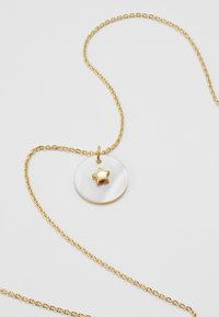 Orelia - STAR EMBELLISHED MOP DISC DITSY - Necklace - pale gold-coloured - 4