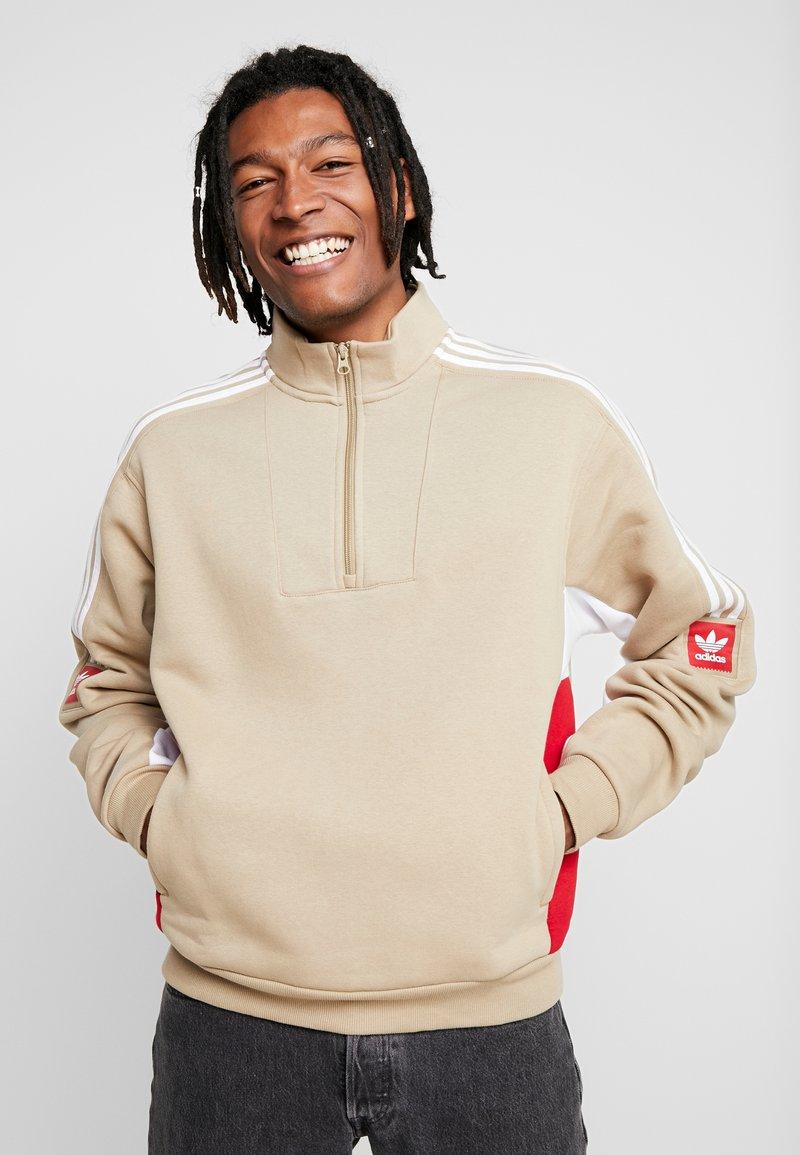 adidas Originals - MODULAR - Sweatshirt - hemp/white/power red