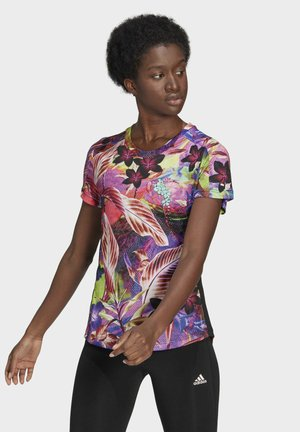FLORAL TEE W - T-shirt print - pink