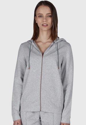MIT REISSVERSCHLUSS - Zip-up sweatshirt - stone grey melange