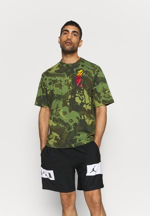ZION TEE - T-shirt con stampa - carbon green/black