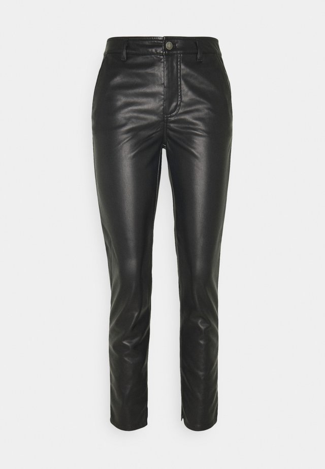 TROUSERS SPLIT - Pantaloni - black