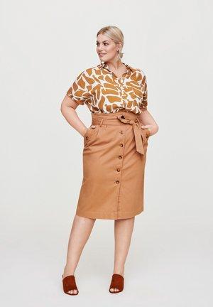 A-line skirt - hellbraun