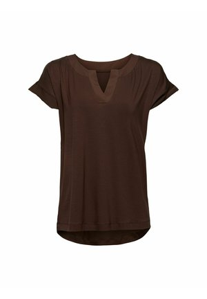T-shirt basic - dark brown