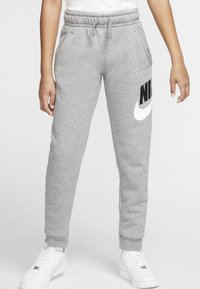 Nike Sportswear - CLUB PANT - Verryttelyhousut - carbon heather/smoke grey - 0