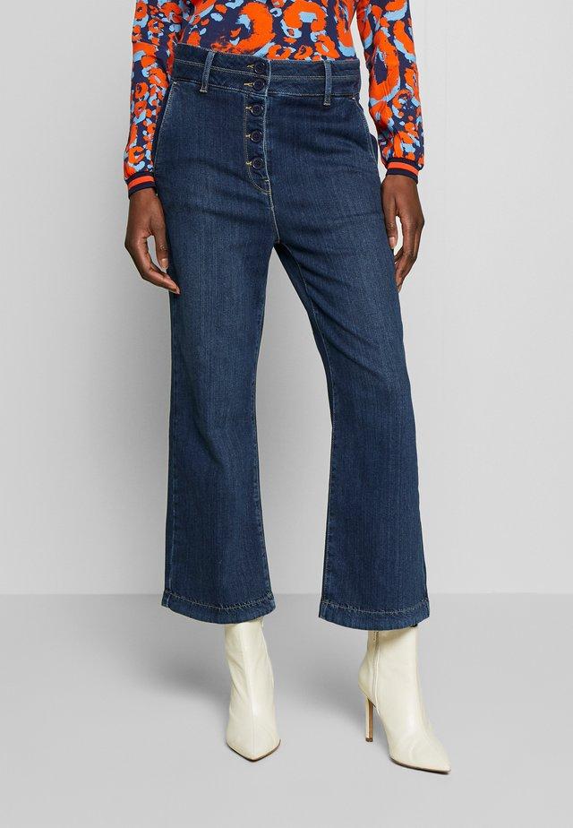 Flared jeans - denim dark blue