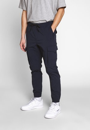 JJIGORDON JJFLAKE - Cargo trousers - navy blazer