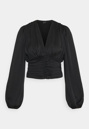 VICTORIA BLOUSE - Long sleeved top - black