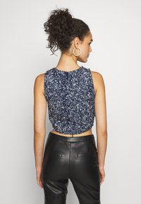 Lace & Beads - PICASSO - Top - navy - 2