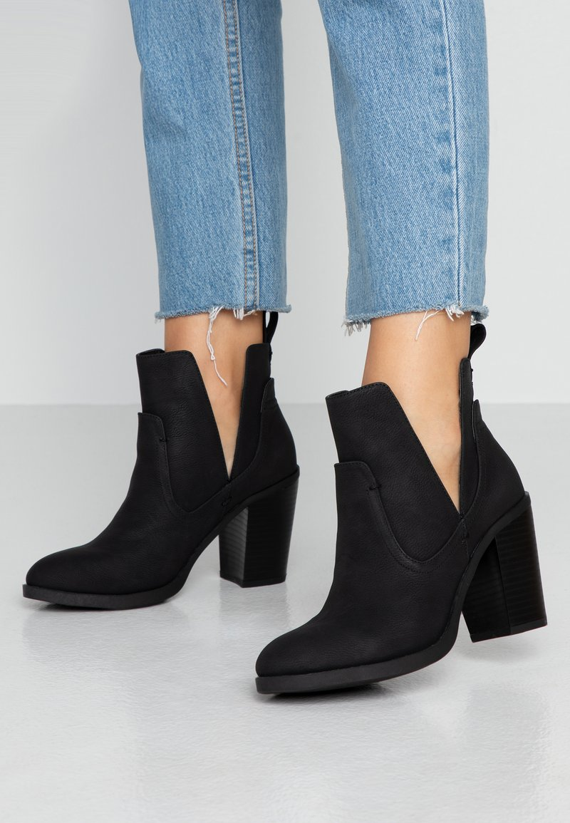 Rubi Shoes by Cotton On - NALA CUT OUT BOOT - Ankelboots - black