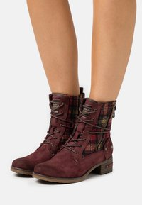 Mustang - Lace-up ankle boots - bordeaux - 0