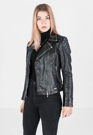 CRAZY  - Leather jacket - schwarz