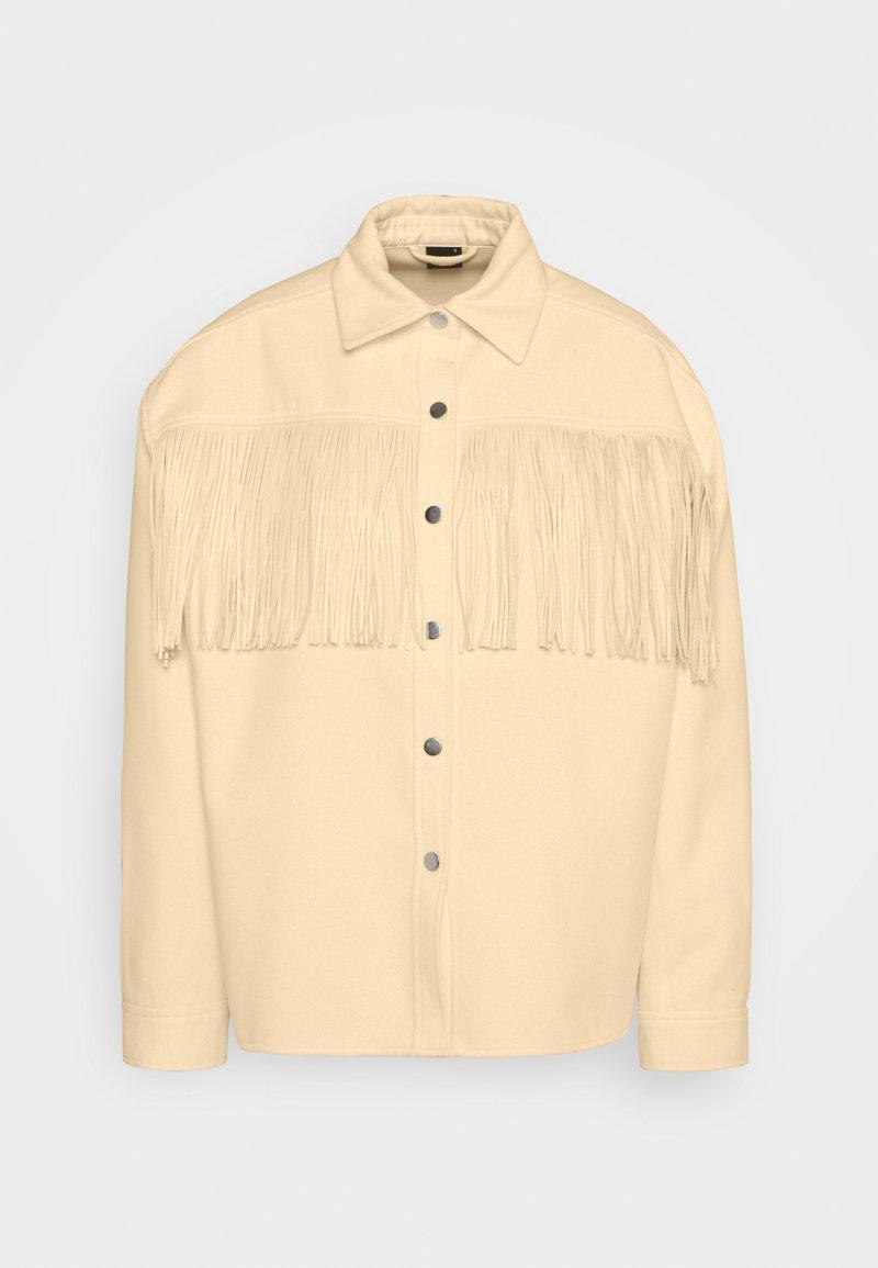Gina Tricot - FANNY FRINGE JACKET - Summer jacket - pristine white