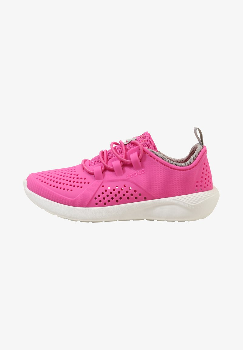 Crocs - LITERIDE PACER - Trainers - electric pink/white