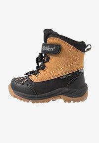 Kickers - JUMP - Winter boots - black/camel - 1