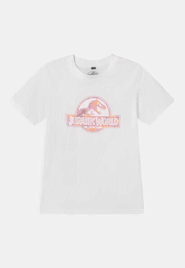 JURASSIC PARK LOGO TEE UNISEX - T-shirt print - white