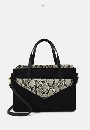 SET - Sac ordinateur - black/beige