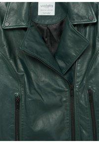 Violeta by Mango - ONETIOR8 - Leather jacket - dunkelgrün - 6