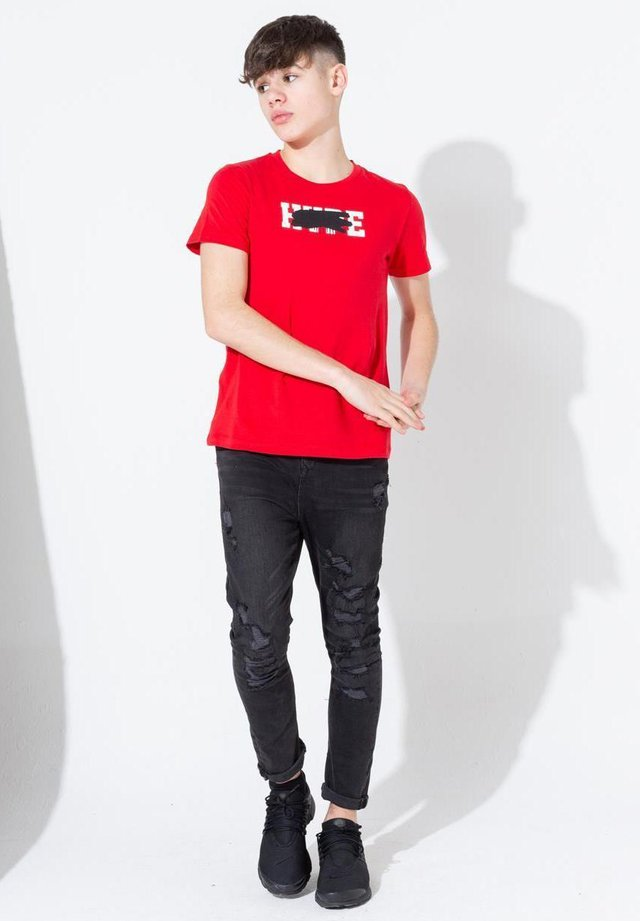 SCRIBBLE GRAFFITI - T-shirt print - red