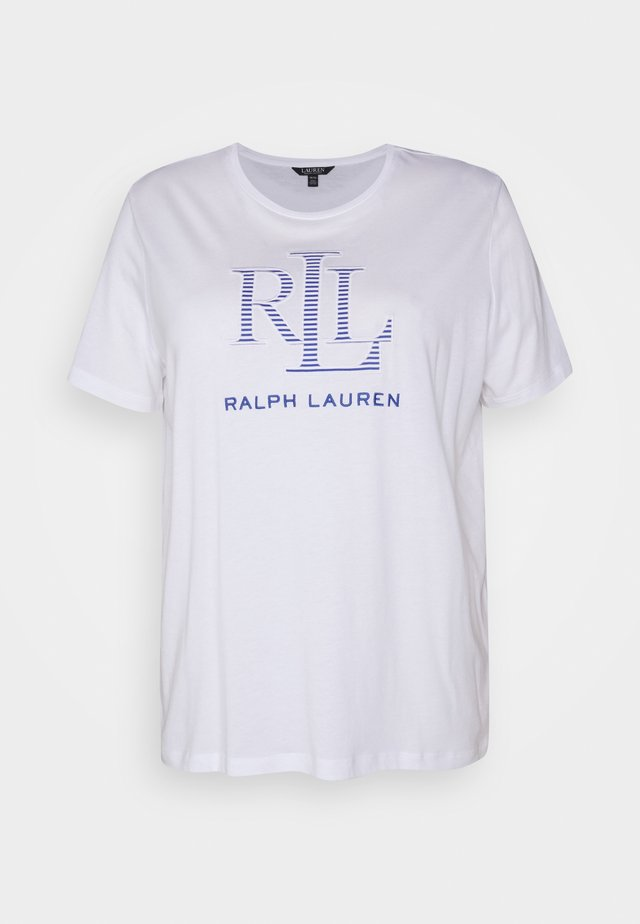 KATLIN SHORT SLEEVE - T-shirt imprimé - white