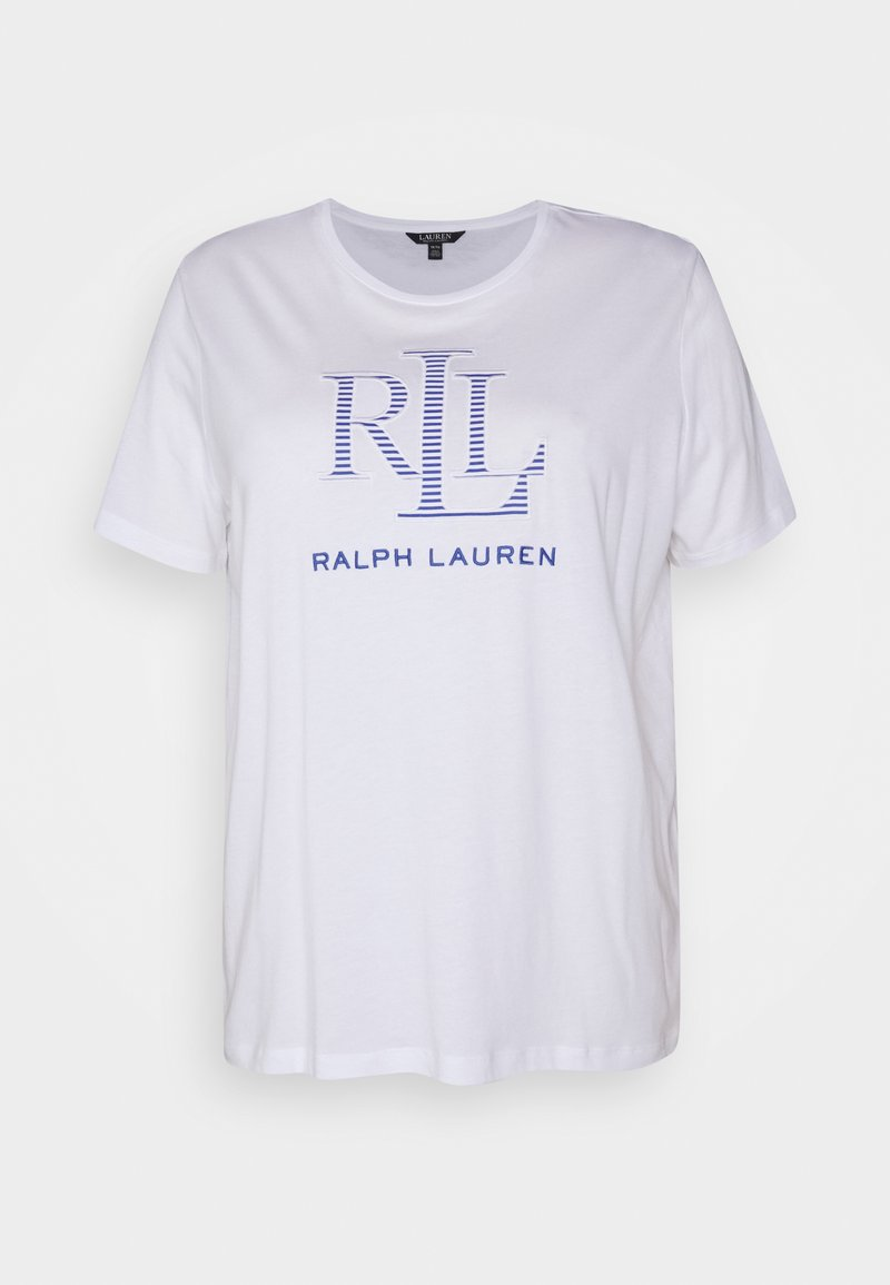 Lauren Ralph Lauren Woman - KATLIN SHORT SLEEVE - T-shirt imprimé - white