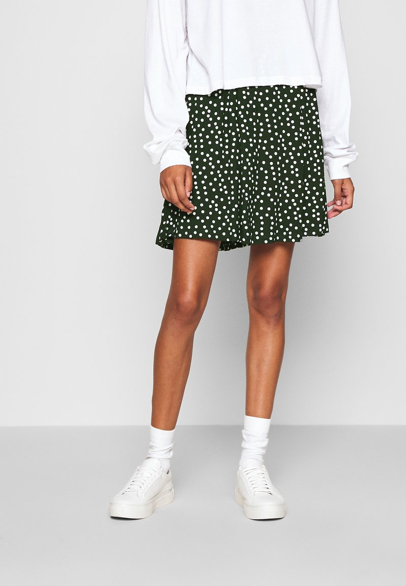 Even&Odd - A-line skirt - white/green