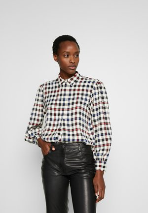 FRIGG - Button-down blouse - off-white/blue/red