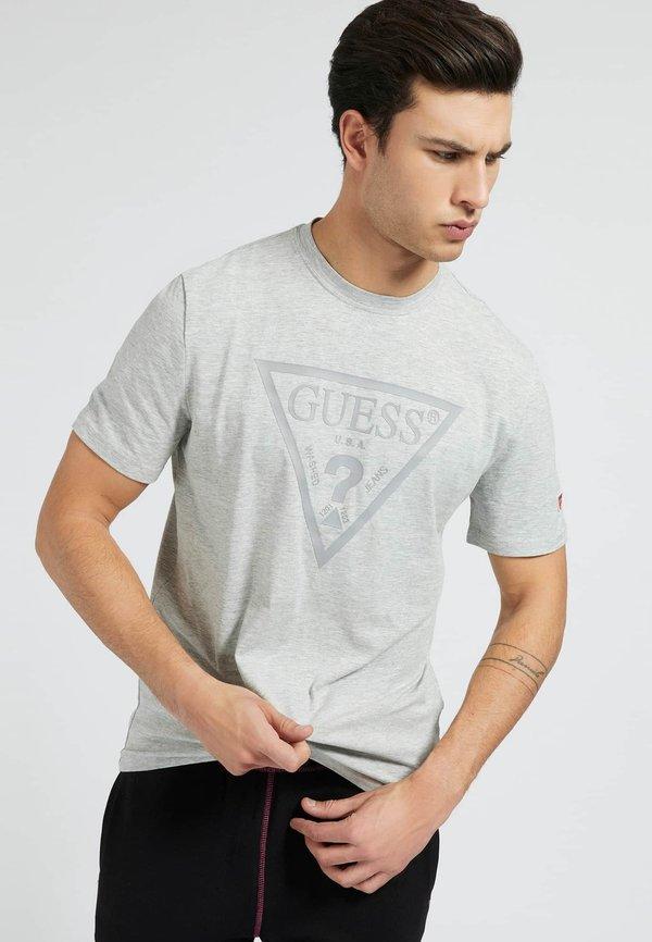 Guess T-shirt z nadrukiem - grau/szary Odzież Męska JXYV