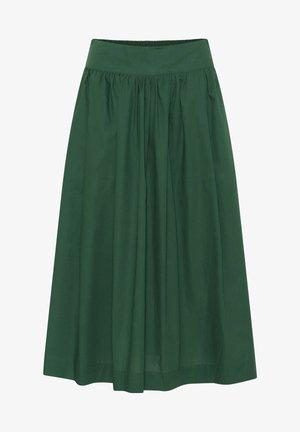 A-line skirt - dark green