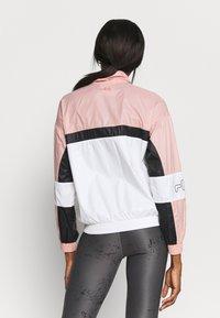 Fila - JADA BLOCKED JACKET - Training jacket - coral cloud/bright white/black - 2